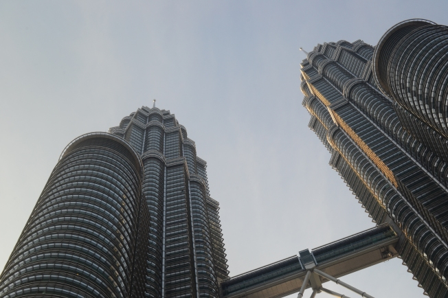 Early morning at the Petronas Towers.