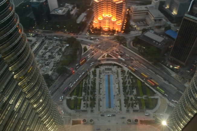 The view from the Skybridge of the Petronas Towers - 170m up