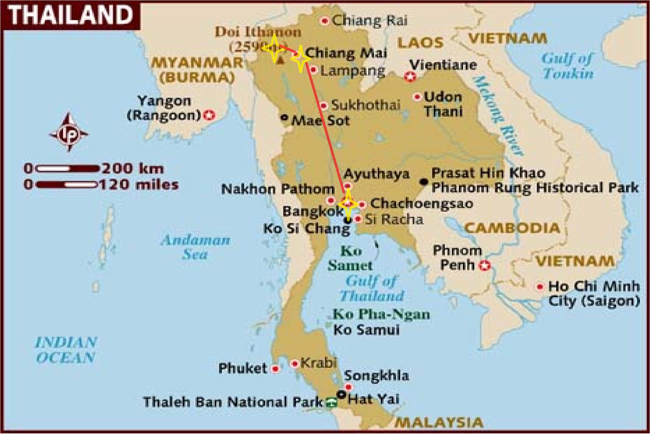 Thailand Karte.Thailand Pai Karte Pai Thailand