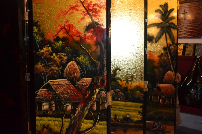 A decorative blind created by victims of Agent Orange