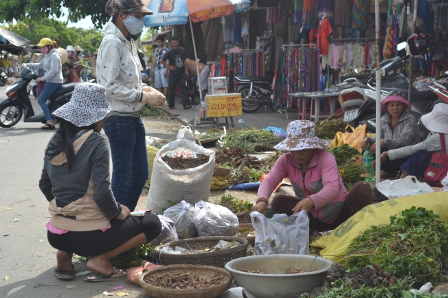 Some market sellers